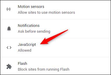 Javascript option