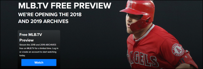 The MLB.TV Free Preview banner.