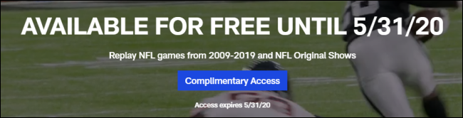 The NFL Game Pass Free banner.
