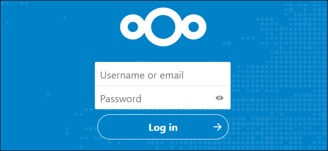 The Nextcloud login page.