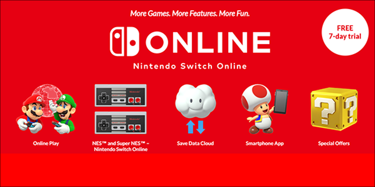 The Nintendo Switch Online Subscription Website.
