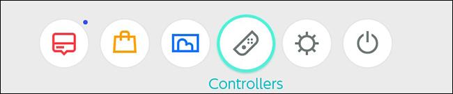 Menú de inicio del controlador Nintendo Switch