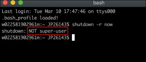 Not super user message