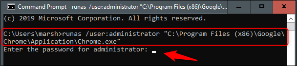 Open Chrome as administrator