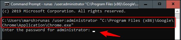 Open Chrome as administrator