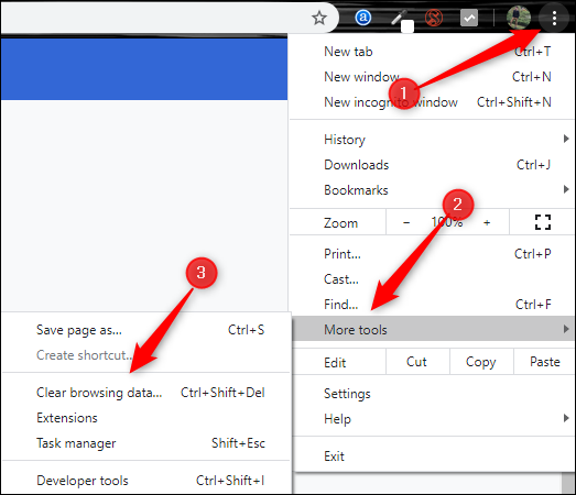 Open settings window in Chrome through the menu