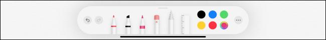 Pencil tools in Notes app