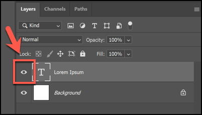 Click the Eye icon next to a layer to hide it.