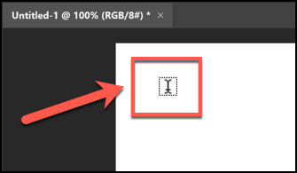 Click the area on the canvas where you want to place your text box.