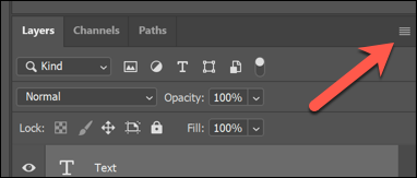 Press the Layers panel option menu button in the top-right to access layer merging options