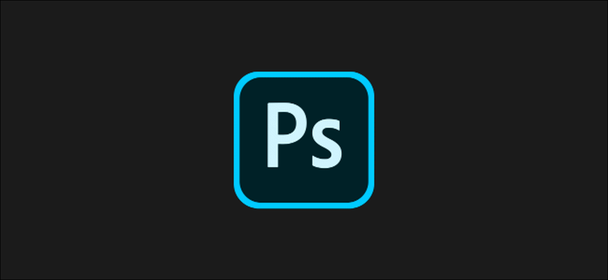 The official Adobe Photoshop logo on a dark background.