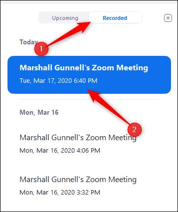 Recorded meetings