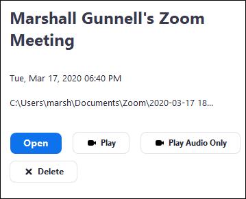 Recording file info