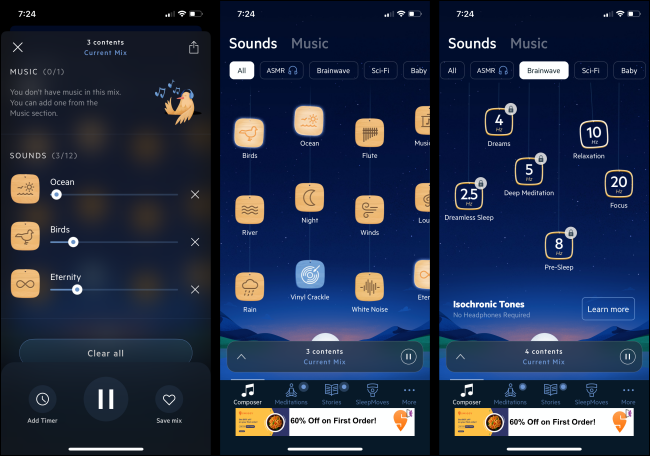 Relax Melodies app for iPhone and Android