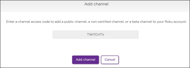 Roku Add a Private Channel