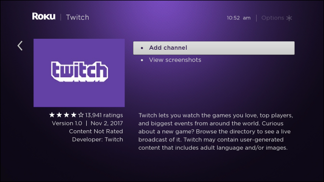 Roku Discontinued Official Twitch App