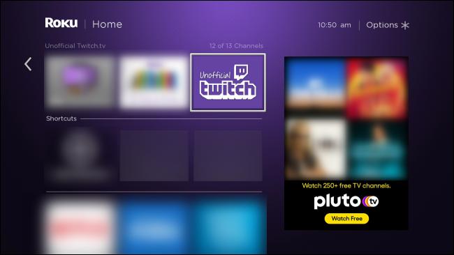 Roku Unofficial Twitch App