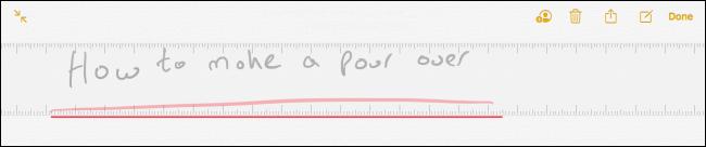 Ruler in Notes app