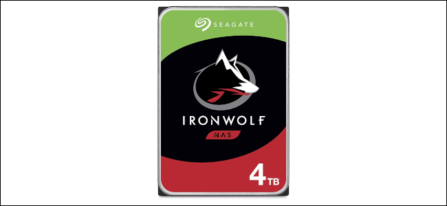 A Seagate IronWolf 4 TB NAS drive.