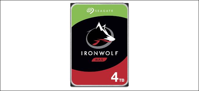 A Seagate IronWolf 4 TB NAS drive.