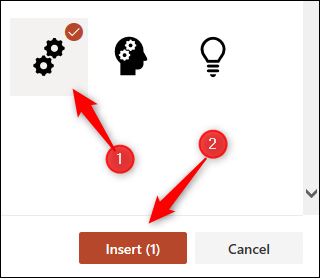 Select icon from library