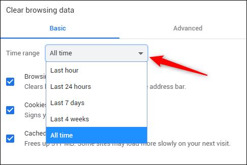 Select time range