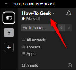 Select workspace name