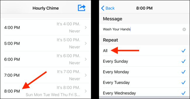 Set up hourly reminders in the Hourly Chime app