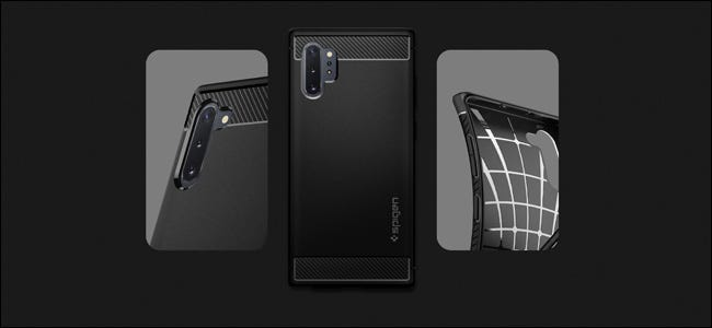 A Spigen Samsung Galaxy Note 10 Case.