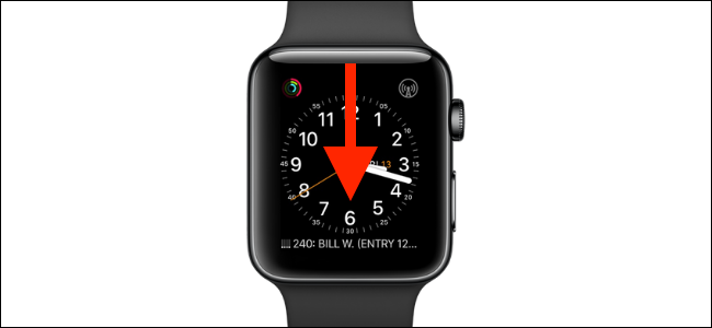 Swipe down from watch face