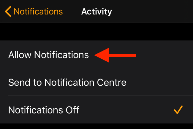 Tap Allow Notifications