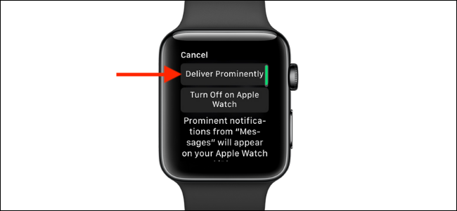 Tap the Deliver Prominently option