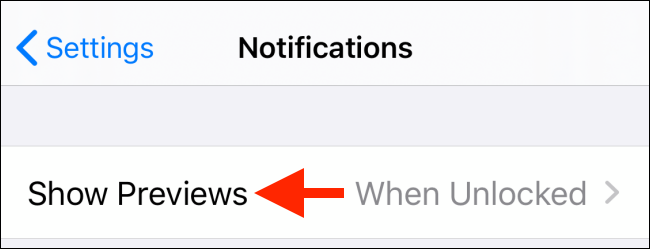 Tap on Show Previews option