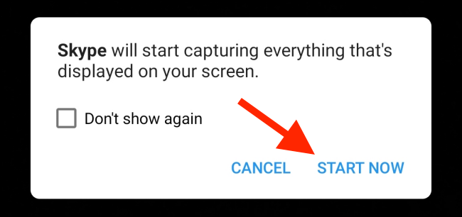 Tap on Start Now from the popup