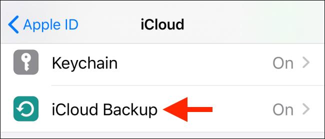 Tap on iCloud Backups