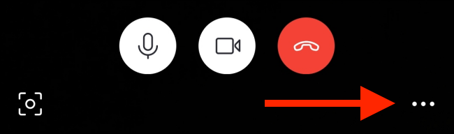Tap the menu button in call screen on Android