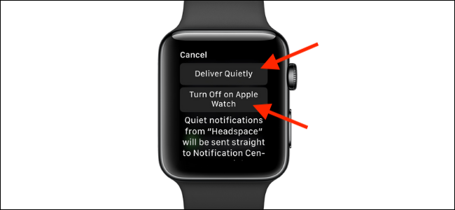 Tap to turn off notifications on Apple Watch