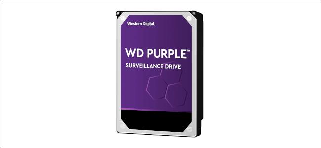 A Western Digital Purple Surveillance Drive.