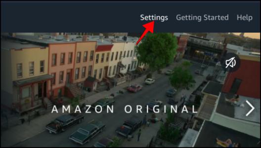 Amazon Prime Video Settings