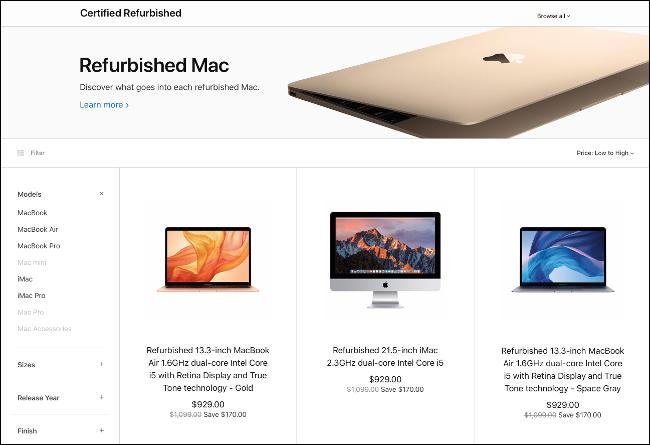 The Apple Refurbished Mac Store.