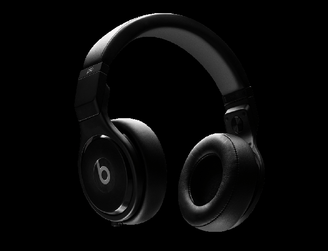 A pair of black Beats headphones.