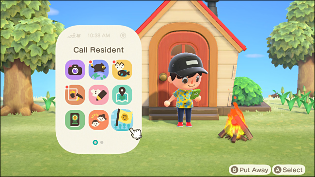 Select Call Resident in Animal Crossing: New Horizons