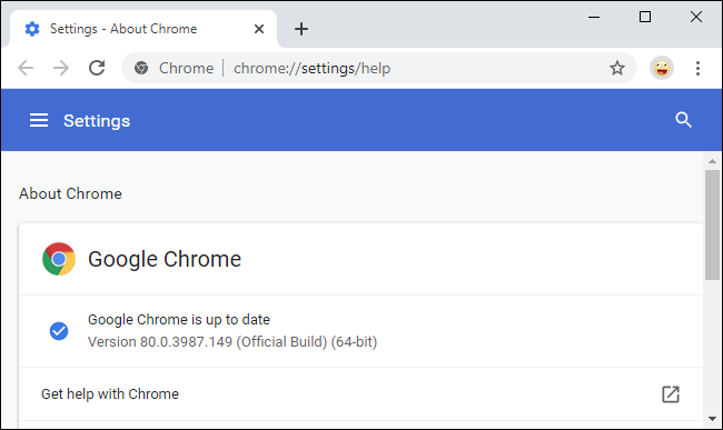 Google Chrome's Settings menu