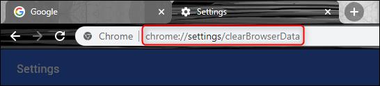 chrome settings url