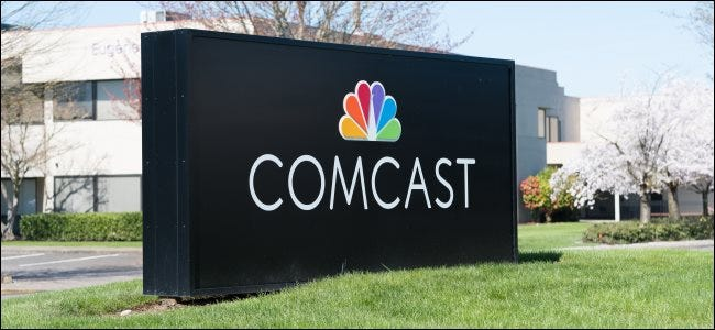A Comcast sign in Eugene, OR