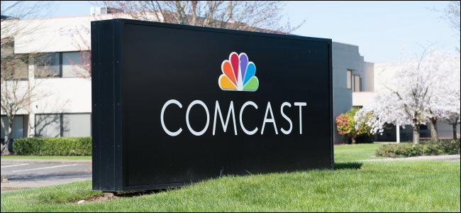 A Comcast sign in Eugene, OR