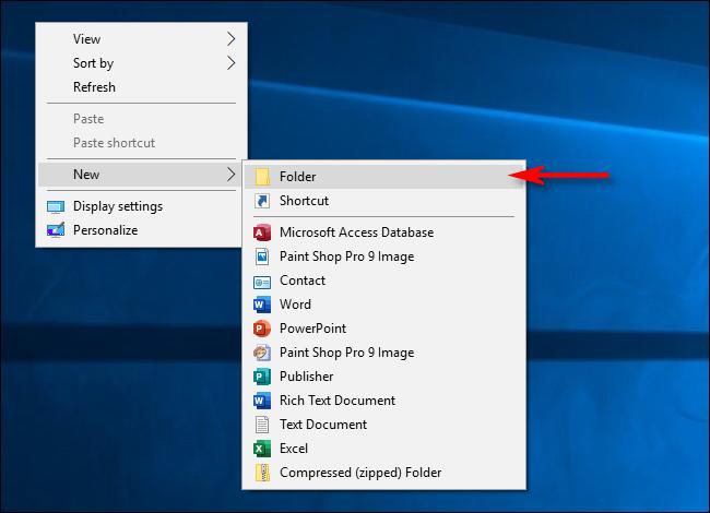 "Select ""Folder."""