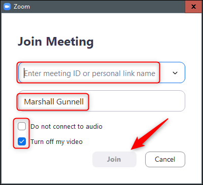 enter meeting id and join meeting