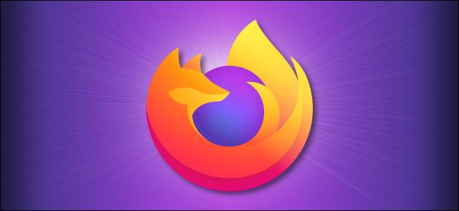 โลโก้ Firefox บนพื้นหลังสีม่วง