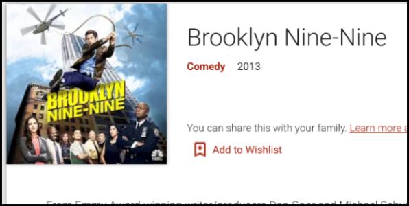 Google Play Brooklyn Nine-Nine